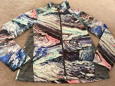 Girls 10 Jacket Sports Next Top Blue Pink Grey Casual P.e. Nx Sport Zip