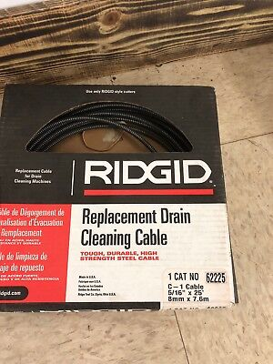 Drain Cleaning Cable,5/16 In. x 25  ft. RIDGID 62225