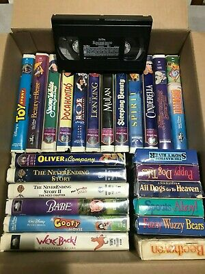 Disney Lot of 25 VHS Tapes Lion King Dumbo Beauty and the Beast