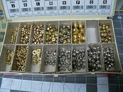 Lot of Acorn Dome Cap Hex Nuts Knurled Nuts Brass Nickel plated Various sizes