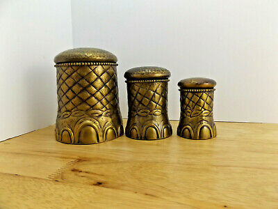 VTG Brass Nesting Elephant Foot Spice Box Set of 3 by Foreside