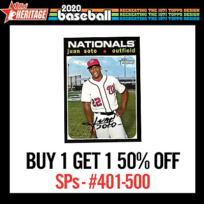 BUY 1 GET 1 50% OFF 2020 Topps Heritage High Number Short Print SP #401-500