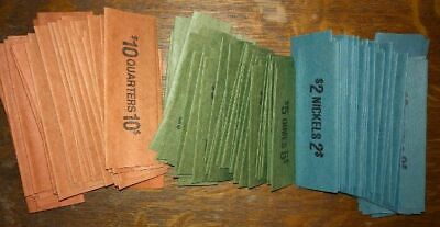 Coin USA Bank Roll Wrappers 150 Count 50 Each Quarters Nickels Dimes