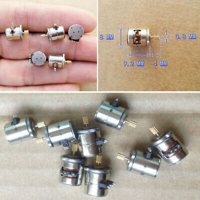 10pcs Micro Mini Stepper Motor 8x9.2mm 2-phase 4-wire With Copper Gear Motor uk