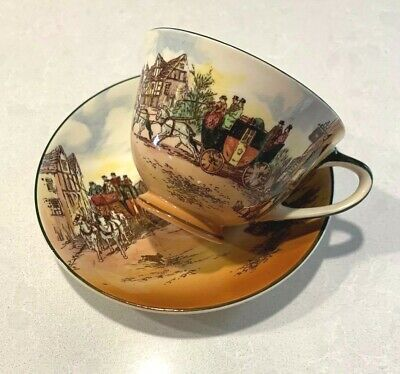 Vintage Royal Doulton Old English Coaching Scenes Cup & Saucer Stunning