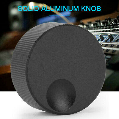 32x13mm Volume Control Black Frosted Solid Aluminum Knob fit 6mm Potentiometer