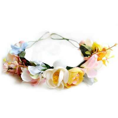 Boho Flower Crown Floral Hair Garland Headband Wreath Headpiece Handmade PWHS13