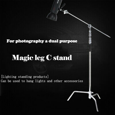 "Selens 11ft C Stand on Turtle Base Kit with 50"" Grip Arm & Two 3.5"" Gobo Heads"