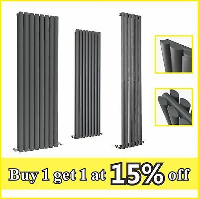 Vertical Anthracite Designer Radiator Oval Column Tall Central Heating Radiators