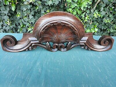 Antique French Hand Carved Wood pediment
