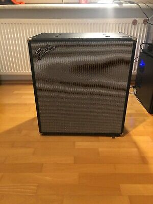 "FENDER RUMBLE 410 CABINET (V3) BASS BOX VERSTÄRKER 500W 4x10"" SPEAKER AMP"