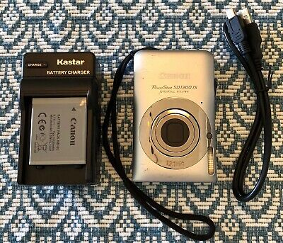 Canon PowerShot Digital ELPH SD1300 IS 12.1 MP Digital Camera - Silver~~Nice~~