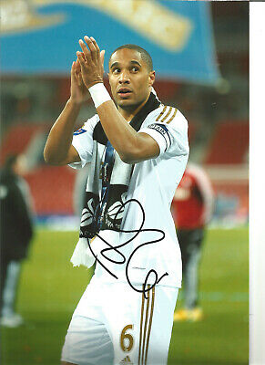 Ashley Williams Swansea hand signed 12 x 8 authentic football photograph SS588A