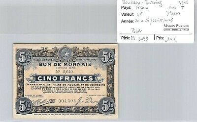 Ticket France - Roubaix Tourcoing North - 5 F - 7° Series with T - 20.4.16/22 -