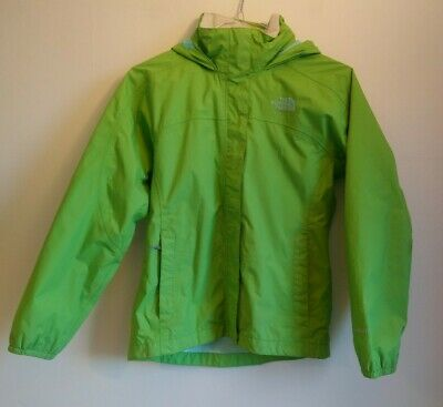 Girl's The North Face HyVent Jacket Size Medium M Age 10 11 12 Years Green Rain