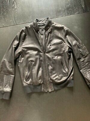 Rag and Bone black leather jacket XL mens, pre-owned