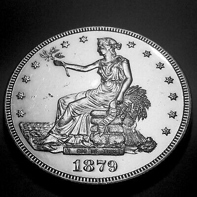 ••• 1879 Trade Dollar ••• Choice Flashy White Proof Mintage Only 1541