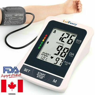 Automatic Digital Arm Cuff Blood Pressure Monitor Heart Beat Rate Pulse Meter CA