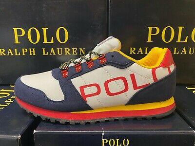 Polo Ralph Lauren Oryion-II Sneakers NAVY/WHITE/RED Big Kids GS ALL SIZES NEW