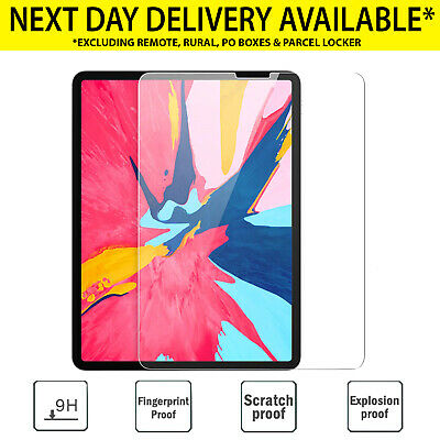 """2X apple iPad 7th 6th 5th gen screen protector Tempered Glass 11 12.9 9.7"""" pro"""