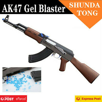 Nylon RX AK47 Electric Gel Ball Blaster Water Bullet Gun Toy 7-8mm Bullet AU
