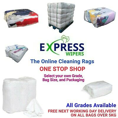 Cleaning Rags / Wipers / Cloths - ONE STOP SHOP - Select Your Grade & Bag Size