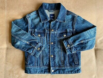 Barely Worn Gap USA Kids Denim Jean Jacket Size Small 6-7 Blue Spring 2009