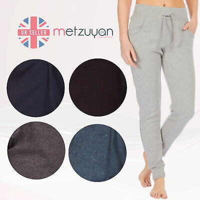 Ladies Womens Jog Pants Joggers Sweatpant Casual Gym Fitness Cuffed Cotton Rich
