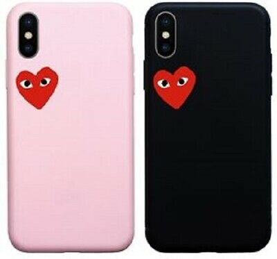 Coque Silicone Iphone 5 6 7 8 X Xr Xs 11 Pro Max SE Comme des Garcons, CDG Play