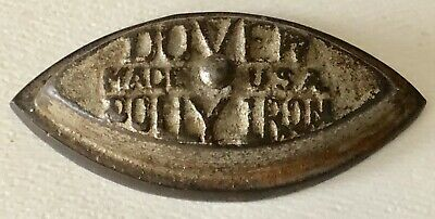 Antique DOVER DOLLY Cast IRON MINIATURE TOY SALESMAN SAMPLE Red Wood Handle USA