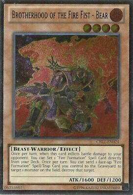 * Brotherhood Of The Fire Fist - Bear * Ultimate Rare (Lp) Cblz-En024 Yugioh!