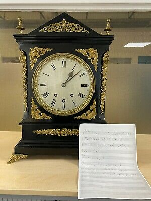 8 Bell Antique Musical Clock Chime Personally Commissioned 18 Century Stunning