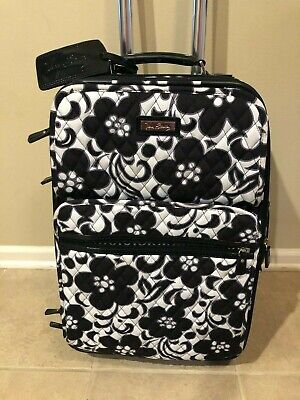 """Vera Bradley Night & Day 21"""" Rolling Suitcase Luggage Carryon Tag Very Rare"""