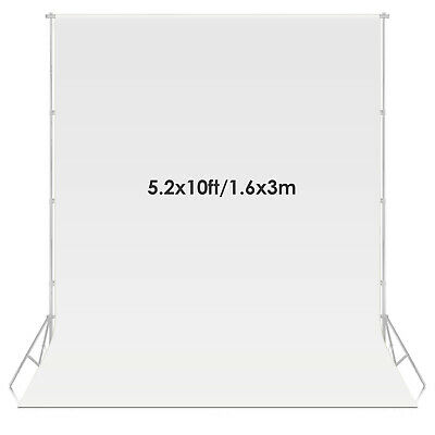 Neewer 1.6 x 3 meters Fabric Photography Backdrop Background Screen (White)