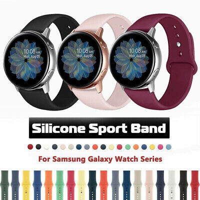 For Samsung Galaxy Watch 46 Active 2 40/44mm Sports Silicone Band Strap Bracelet