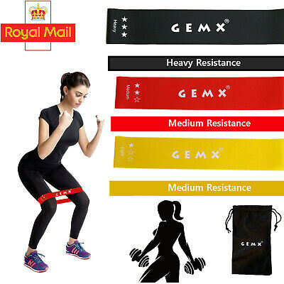 New Latex Resistance Band Heavy Duty Hip Circle Booty Bands Gym Fitness Set of 3