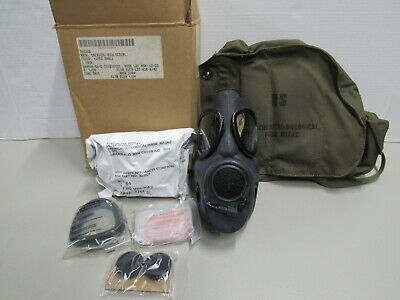 US M17 A2 Gas Mask MSA w/ Filter Canvas Bag Size Small 1984 Dated New Old Stock