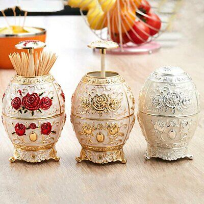 Fashion European Style Table Decoration Automatic Toothpick Box Zinc Alloy Home