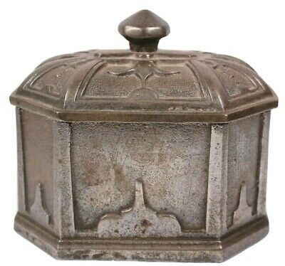 Antique Coalbrookdale Industrial Cast Iron Tobacco Caddy Box Circa 1846