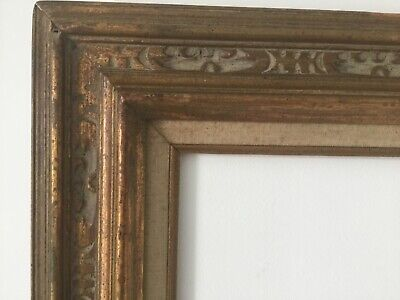 HAND CARVED  ART & CRAFTS WOOD GILDED FRAME FOR PAINTING  24 x 20INCH