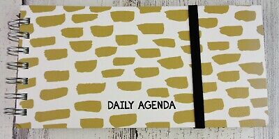 """TF Publishing Undated Daily Planner Weekly Monthly Agenda Spiral 8"""" x 4"""" - NEW"""