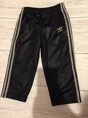 Adidas Girls Tracksuit Bottoms Size 12-18 Months Black Original Chile 62