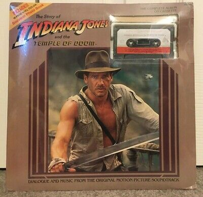 INDIANA JONES - Cassette Dialogue & Music The Temple of Doom SEALED + Booklet