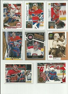 Patrick Roy Lot 8 Montreal Canadiens Ud Opc Pinnacle Topps 1990 2011 Upper Deck