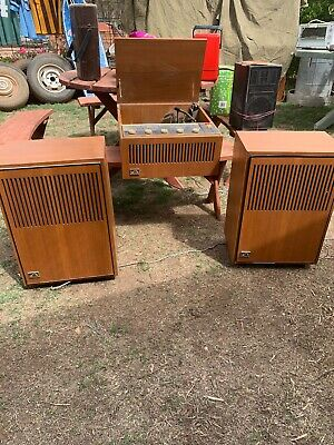 His Masters Voice Transistor Radio With Speakers Record Player
