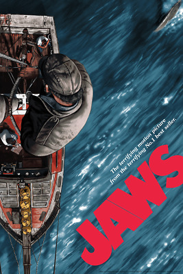 """/""""Paint-Happy Bastards/"""" JAWS Signed ART Print Poster by Author /& Artist Tom Ryan"""
