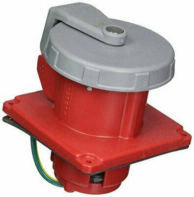 Hubbell HBL4100R7W Pin and Sleeve IEC Receptacle, 3 Pole, 4 Wire, 100 amp, 480V,