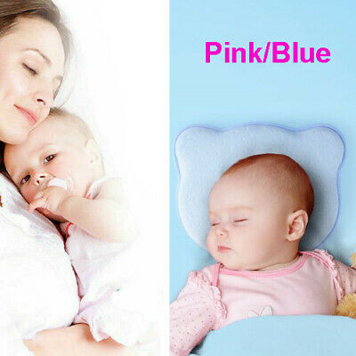 Pillow Newborn Infant Baby Support Cushion Pad Prevent Flat Head Pink/Blue 26x21
