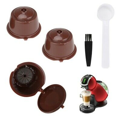 3x Refillable Coffee Capsule Cup For Dolce Gusto Nescafe Reusable Filter Pod