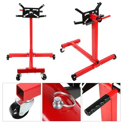 UK 360° Swivel Transmission Gearbox Engine Support Stand 1000 lbs 450kg Wheels